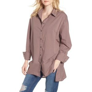 Free People lake house oversized button down